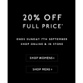 20% Off Full Price Items @ Marcs - ends Sunday, Sept 7
