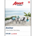 Amart Furniture - Boxing Day 2019 Sale: Anchor 3 Piece Outdoor Patio Setting $19 (Was $49)