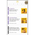 McDonald's - 2 McClassics for $6 - Big Mac/McChicken/Quarter Pounder/Filet O Fish via mymacca's App