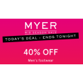 MYER - Daily Deal: Take an Extra 40% Off Men's Footwear! Today Only