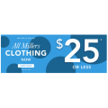 Millers - Nothing Over $25 Sale (Up to 80% Off)! In-Store & Online