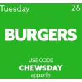 Menu Log - Black Friday Tuesday Special: 25% Off Burger Deals via App (code)! Today Only