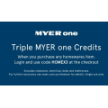 MYER - Triple Myer One Credit when Purchase Any Homeware Items (code)