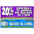 JB Hi-Fi - 20% Off Blu-Ray, 4K & DVDs + Extra 10% Off Voucher! Today Only