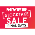 MYER - Final Stocktake Weekend Sale: Online & In-Store (3 Days Only)
