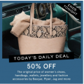 MYER - Daily Deal: 50% Off Men's Clothing & Women's Shoes + Accessories - Today Only