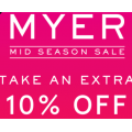 Myer - Weekend Sale: Take an Extra 10% Off Already Reduced Items - 2 Days Only