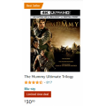 Amazon - The Mummy Ultimate Trilogy Blu-Ray $30.90 + Delivery (RRP $149.99)