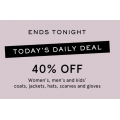 MYER - Daily Deal: 40% Off Women, Men & Kid's Fashion Clothing & Accessories - Today Only