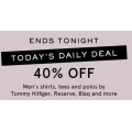 MYER - Daily Deal: 40% Off 1840+ Men's Clothing Styles - Today Only