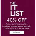 MYER - IT LIST Sale: Take a Further 40% Off Men & Women's Clothing & Footwear Clearance Items - Today Only