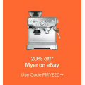 eBay Myer - 20% Off Everything (code)! Max. Discount $500