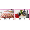 MYER - Daily Deal: 50% Off Home-ware; Cookware; Dinnerware; Glassware; Cutlery etc.