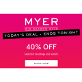 MYER - Daily Deal: Take an Extra 40% Off Women's Handbags & Wallets (Today Only)
