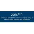 MYER - Further 20% Off Men & Women's Fashion; Footwear & Accessories - Minimum Spend $100