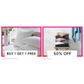 Myer - Daily Deal: Buy One Get One Free Quilts, Pillows & Protectors / 50% Off Sheets & Towels