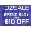 Ozsale - $10 Off Orders - Minimum Spend $40 (code)