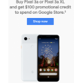 Google Store - $100 Promotional Credit with Pixel 3a or Pixel 3a XL Smartphone