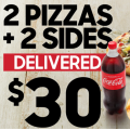 Pizza Hut - Latest Vouchers e.g. 4 Large Pizzas + 4 Sides $45 Pick-Up / Delivery; 2 Pizzas + 2 Sides $30 Delivered etc. (codes)