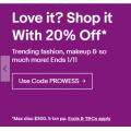 eBay - 20% Off 46+ Retailers (code)! No Minimum Spend