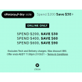 Rebel Sports - Afterpay Day Spend & Save Offers: $30 Off $200 | $60 Off $400 | $90 Off $600 Spend - 4 Days Only