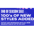 Reebok - End of Season Sale: Up to 70% Off 510+ Clearance Items e.g. Accessories $10.5; T-Shirt $10.5; Shorts $10.5; Footwear $31.5 etc.