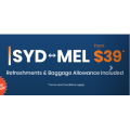 Rex Airlines - Fly between Sydney and Melbourne $39 One-Way! Starts Monday 3rd May