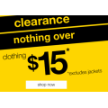 Rivers - Nothing Over $15 Clearance (Up to 85% Off) e.g. Mix Media Tee $4.95 (Was $34.99); Riversoft Lasercut Ballet Flat $9.95 (Was $49.99) etc.