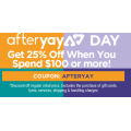 Supercheap Auto - Afteryay Sale: 25% Off Everything - Minimum Spend $100 (code)! 2 Days Only