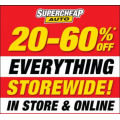 Supercheap Auto - 1 Day Sale: 20%-60% Off Storewide (In-store and Online)! Sat 20th July