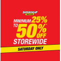 Supercheap Auto - Saturday Special: Minimum 25%-50% Off Storewide - 1 Days Only