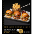 Event Cinemas - International Burger Day: 50% Off Sliders & Fries (Mon 24th - Wed 26th May)