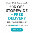 Snapfish - 50% Off + Free Standard Delivery (code)