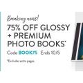 Snapfish - Flash Sale: 75% Off Glossy and Premium Photo Books (code)