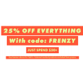ASOS - 72 Hours Frenzy: 25% Off Everything (code)! Minimum Spend $30