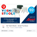 Amart Furniture - Yoshi Fabric Stool $2 (Was $29)! In-Store Only [Sat 10th Aug]