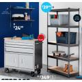 "ALDI - 39"" Mobile Toolbox and Workbench $349; 5-Tier Boltless Shelving $39.99; Storage & Organisational Sets $19.99 etc. [Starts Sat 23/1]"