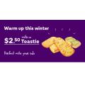 Subway - $2.50 Toasties (Cheesy Garlic, Avocado & Garlic and Herb)