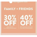 Sunglass Hut - Friends & Family Offer: 30% Off Pair of Full Priced Sunglasses | 40% Off 2 or More Pair of Sunglasses (code)