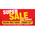 Supercheap Auto - Super Sale Savings: 30%-50% Off Storewide + Extra 5% Off  for Club Plus Members (code)! 2 Days Only