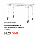 IKEA - Final Markdowns Sale: Up to 50% Off Clearance Items + Extra $10 Voucher e.g. SAMMANKOPPLA Table $60 (Was $129) etc.
