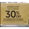 Target - Take a Further 30% Off Already Reduced Women's wear Clearance! In-Store Only