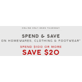 Target - 4 Days Sale: $20 Off Orders - Minimum Spend $100 (code)! Online Only