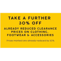 Target - Take a Further 30% Off Already Reduced Clearance Prices of Clothing, Footwear & Accessories