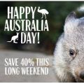 Taronga Zoo Australia Day Offer - 40% off full-priced adult and child tickets! Ends 26th Jan