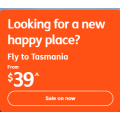 Jetstar - Happy Place Sale: Domestic Flights from $39 e.g. Melbourne to Hobart $39