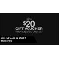 $20 Voucher when you spend $80 @ DC Shoes!