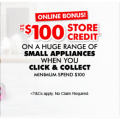 The Good Guys - Mother's Day Small Appliance Sale: $100/$50/$20/$10 Store Credit with Click & Collect Orders! Online Only