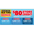 The Good Guys - Online Tax Time Bonus: $80/$40/$20 Store Credit + Notable Offers! Online Only