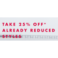 Tommy Hilfiger - Take a Further 25% Off Already Reduced Items (code)